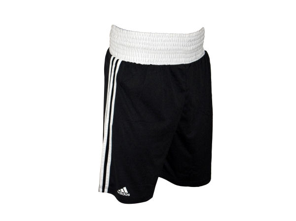 Adidas Base Punch MK2 II Climalite Boxing Shorts - Black White
