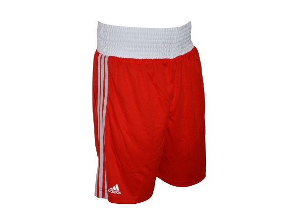 Adidas Base Punch MK2 II Climalite Boxing Shorts - Red White
