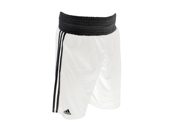 Adidas Base Punch MK2 II Climalite Boxing Shorts - White Black