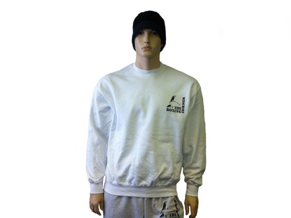Boxing Corner Sweatshirt Top - Gym & Casual Jumper - White