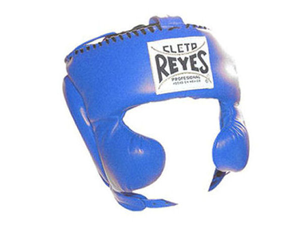 Cleto Reyes Traditional Pro Head Gear with Cheek Guards Blue