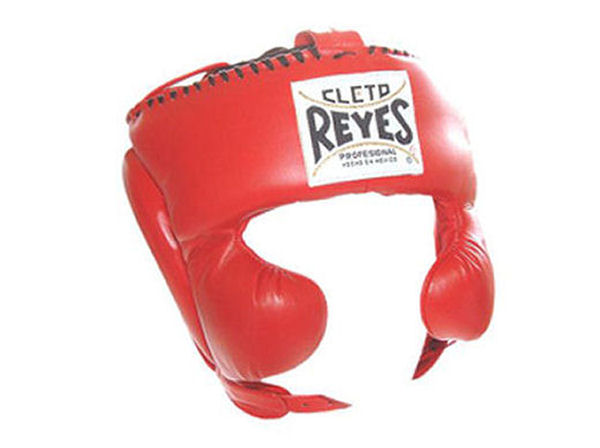 Cleto Reyes Traditional Pro Head Gear with Cheek Guards Red