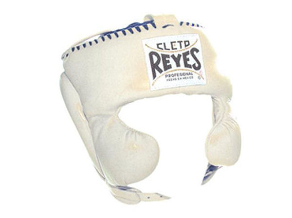 Cleto Reyes Traditional Pro Head Gear with Cheek Guards White