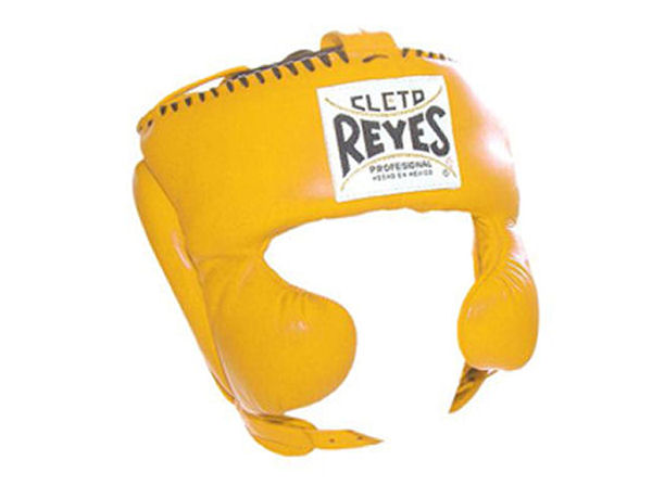 Cleto Reyes Traditional Pro Head Gear with Cheek Guards Yellow