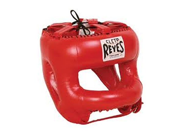 Cleto Reyes Pro Sparring Head Guard with Rounded Nylon Bar Red