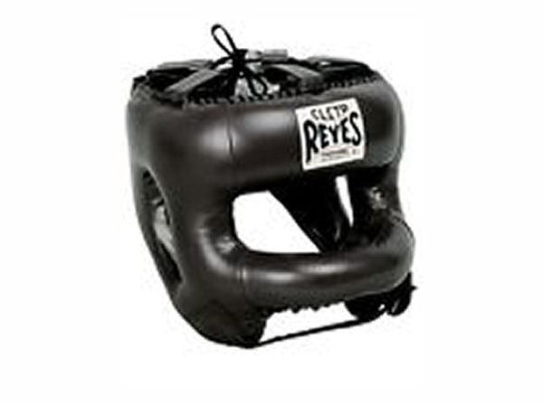 Cleto Reyes Pro Sparring Head Guard with Rounded Nylon Bar Black