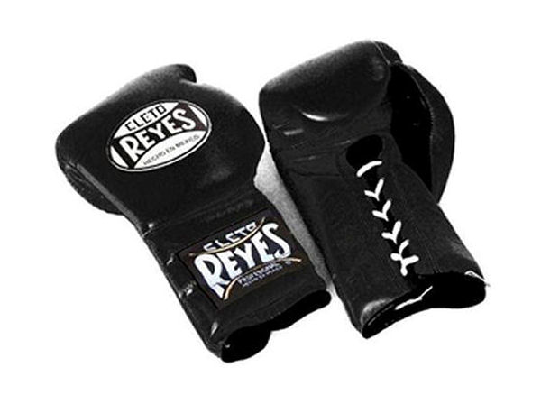 Cleto Reyes 12oz Lace Up Pro Sparring Training Gloves - Black