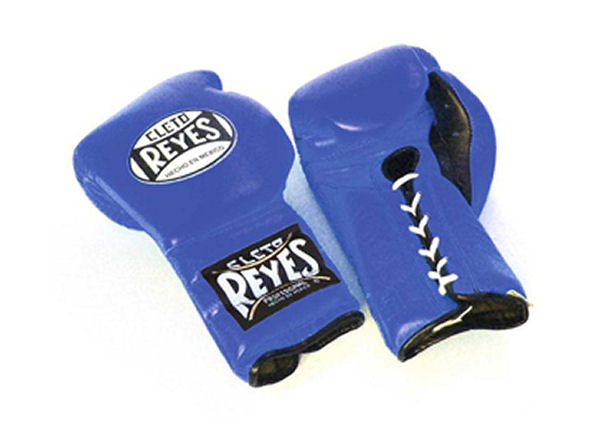 Cleto Reyes 12oz Lace Up Pro Sparring Training Gloves - Blue