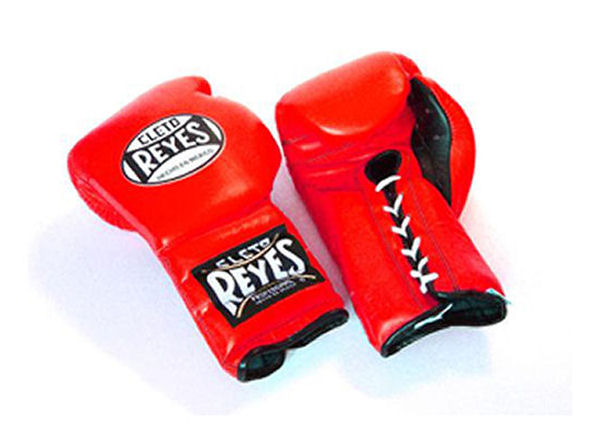 Cleto Reyes 16oz Lace Up Pro Sparring Training Gloves - Red