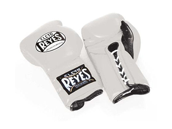 Cleto Reyes 14oz Lace Up Pro Sparring Training Gloves - White