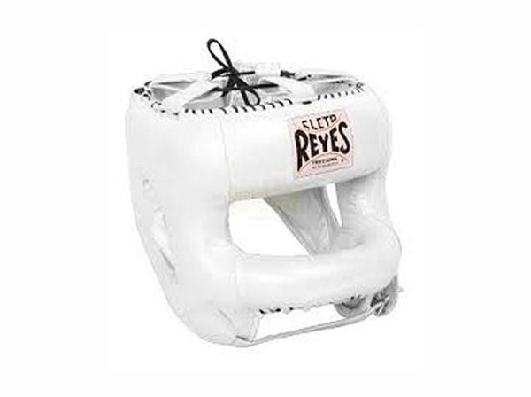 Cleto Reyes Pro Sparring Head Guard with Rounded Nylon Bar White