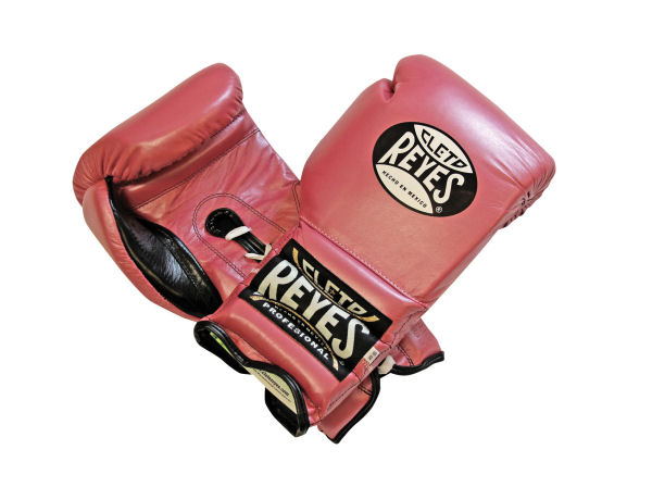 Cleto Reyes 16oz Lace Up Pro Sparring Training Gloves Pearl Pink