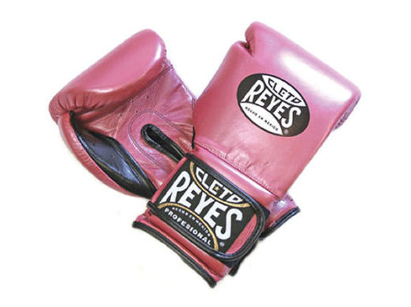 Cleto Reyes 14oz Velcro Pro Sparring Training Gloves Pearl Pink