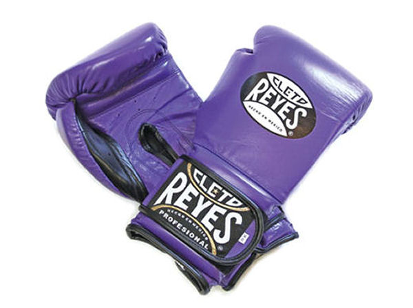 Cleto Reyes 16oz Velcro Pro Sparring Training Gloves Purple