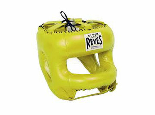 Cleto Reyes Pro Sparring Head Guard Rounded Nylon Bar Yellow