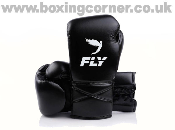 Fly Superlace X Boxing Gloves Black