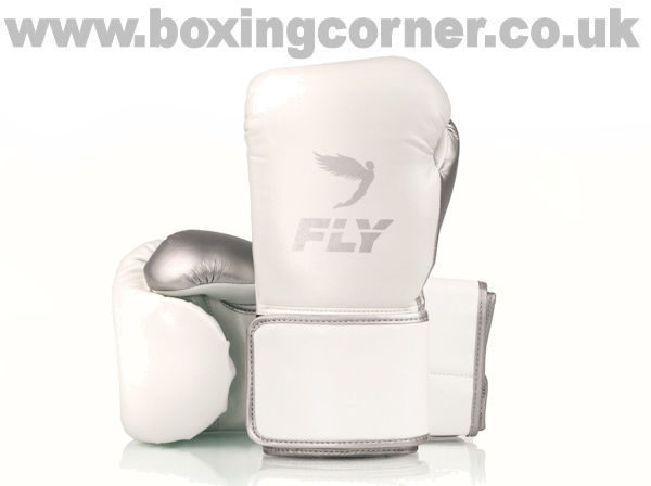 Fly Superloop X Boxing Gloves White Silver