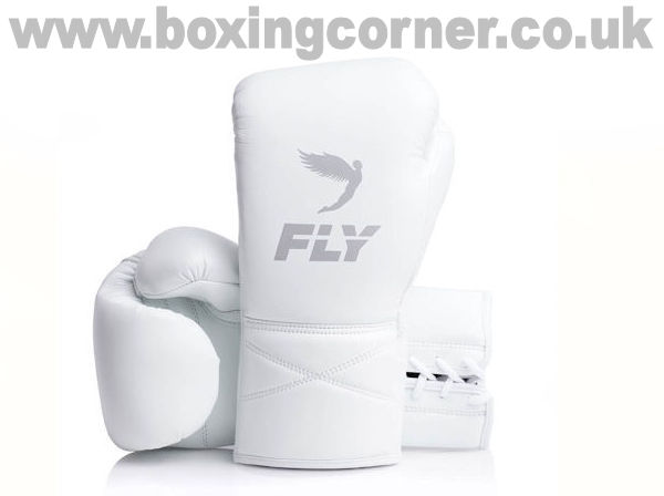 Fly Superlace X Boxing Gloves White