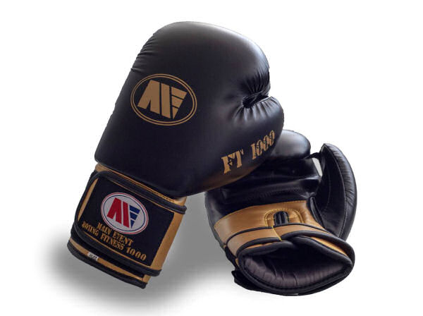 Main Event FT 1000 Synthetic Leather Boxing Gloves Black + Gold