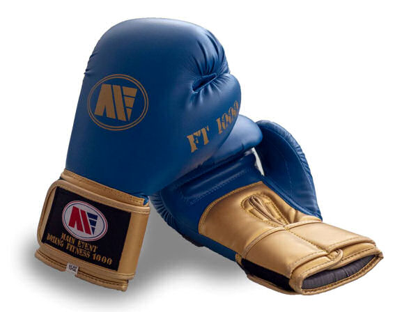 Main Event FT 1000 Synthetic Leather Boxing Gloves Blue and Gold