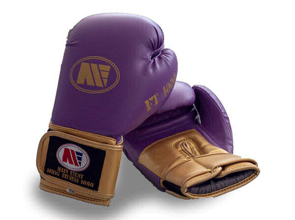 Main Event FT 1000 Synthetic Leather Boxing Gloves Purple & Gold