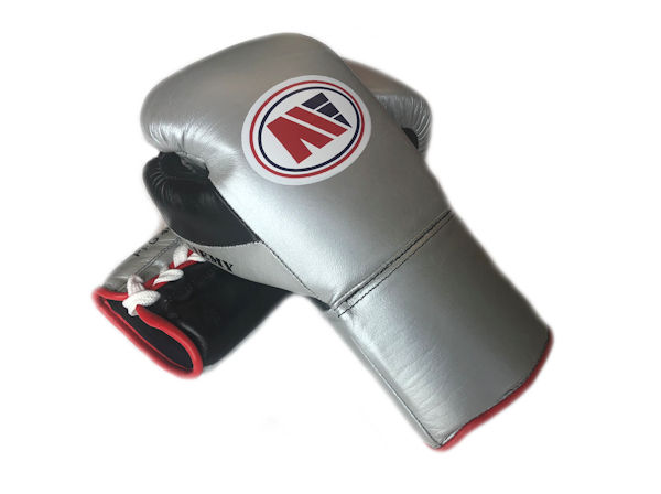 Main Event Boxing PFG 4000 Elite Pro Fight Gloves Silver Black