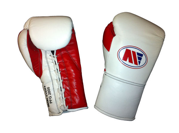 Main Event Boxing Pro Fight PFG 2000 Punchers Glove White Red