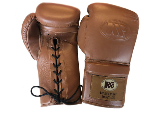 Main Event Boxing Heritage Pro Leather Training Gloves - Lace Up