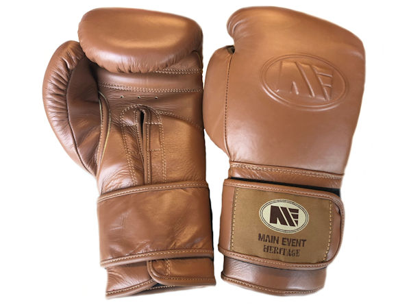 Main Event Boxing Heritage Pro Leather Training Gloves - Velcro