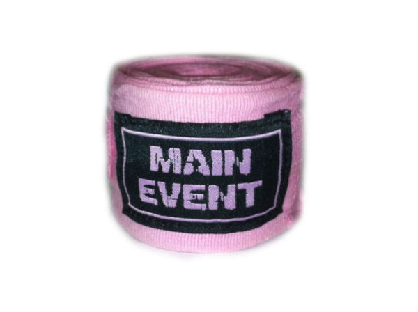 Main Event Boxing Pro - Stretch 2.5m Hand Wraps - Pink
