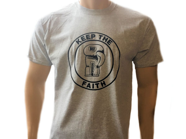 Main Event Keep The Faith Training Casual Cotton T Shirt Grey