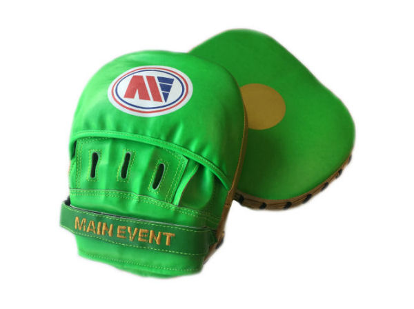 Main Event Boxing Fitness Boxercise Focus Pads Mitts Green Gold