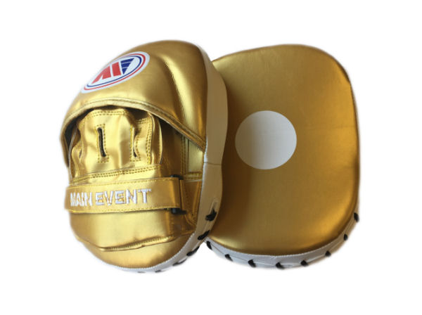 Main Event PFP 1000 Synthetic Leather Focus Pads Gold and White