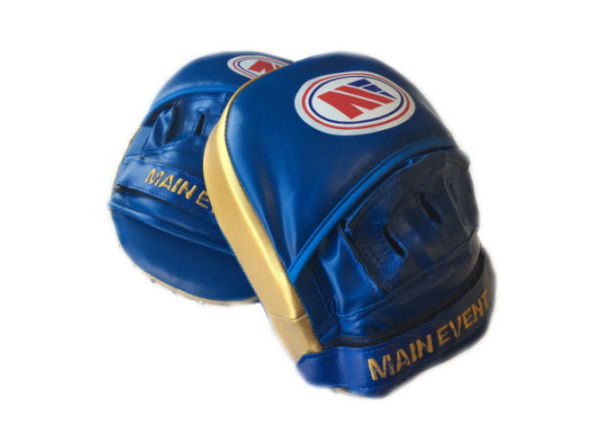 Main Event Boxing Fitness Boxercise Focus Pads Mitts Blue Gold