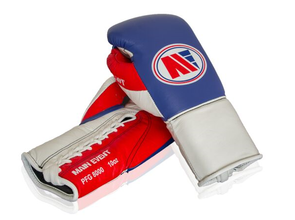Main Event Boxing Patriot PFG 8000  Pro Fight Gloves Blue Top
