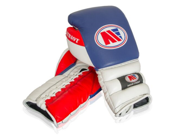Main Event Boxing Patriot Pro Spar Training Gloves Lace Up Blue
