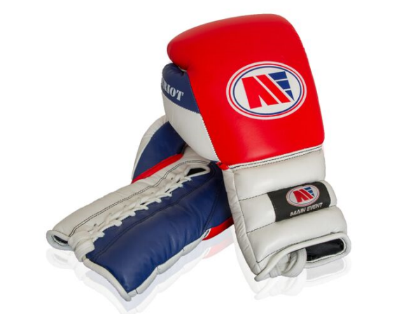 Main Event Boxing Patriot Pro Spar Training Gloves Lace Up Red