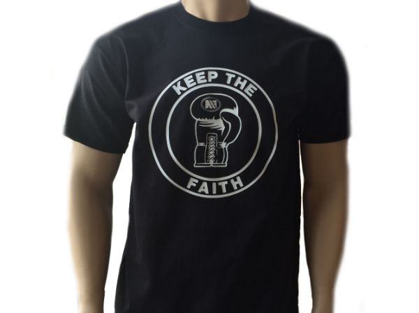 Main Event Keep The Faith Training Casual Cotton T Shirt Black