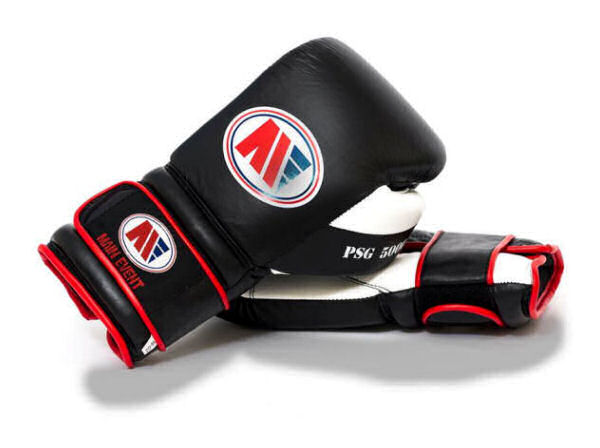 Main Event Boxing PSG 5000 Pro Spar Gloves - Black Top - Velcro