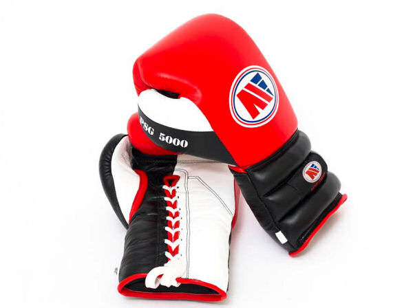 Main Event Boxing PSG 5000 Pro Spar Gloves - Red Top - Laces