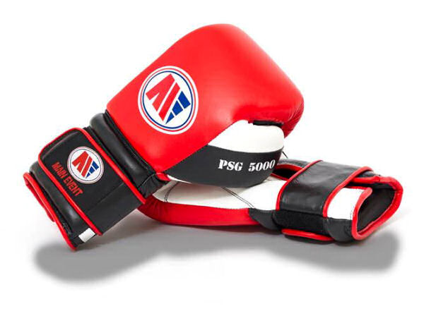 Main Event Boxing PSG 5000 Pro Spar Gloves - Red Top - Velcro