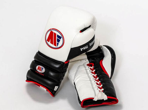 Main Event Boxing PSG 5000 Pro Spar Gloves - White Top - Laces