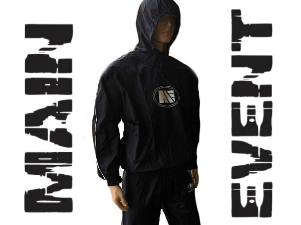 Main Event Boxing Heavy Duty Pro Nylon Hooded Sauna Sweat Suit