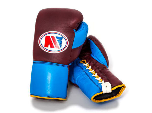 Main Event Boxing PFG 4000 Elite Pro Fight Gloves Claret Blue