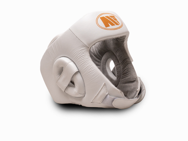 Main Event Boxing Childrens Leather Training Head Guard White