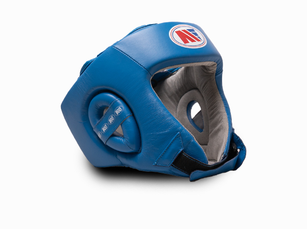 Main Event Boxing Childrens Leather Training Head Guard Blue