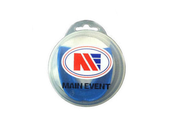 Main Event Boxing Single Gumshield Mouthguard - Blue With Case