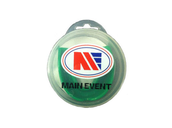 Main Event Boxing Single Gumshield Mouthguard - Green With Case