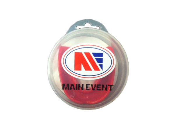 Main Event Boxing Single Gumshield Mouthguard - Red With Case