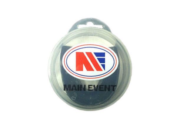 Main Event Boxing Single Gumshield  Mouthguard - Black With Case
